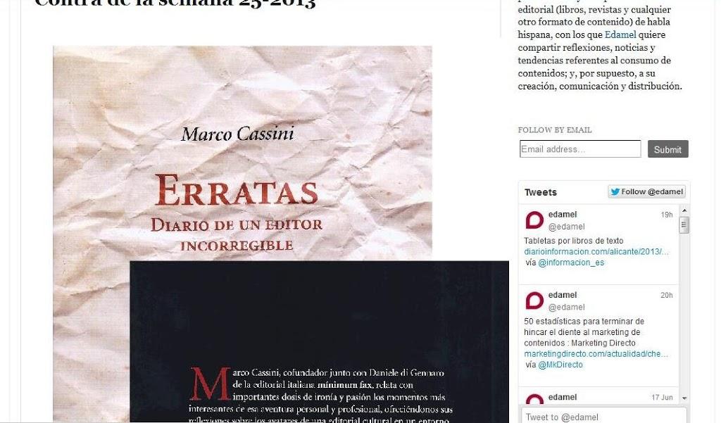 Erratas de Marco Cassini en Marketing editorial