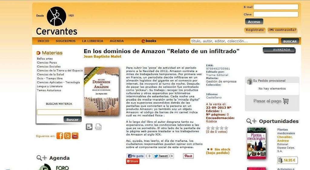 Cervantes de Oviedo ya se hace eco de En los dominios de Amazon