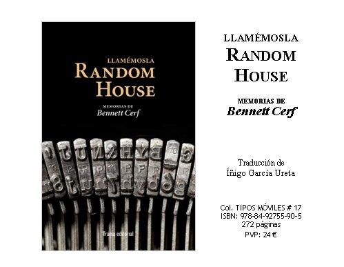 Llamémosla Random House. Memorias de Bennett Cerf