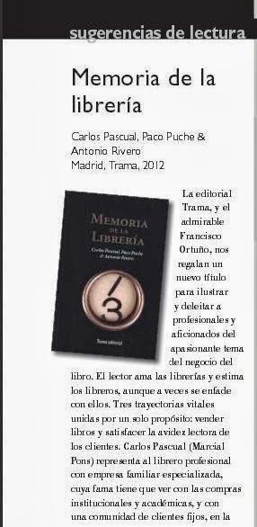 Memoria de la librería en la Revista de la UNE