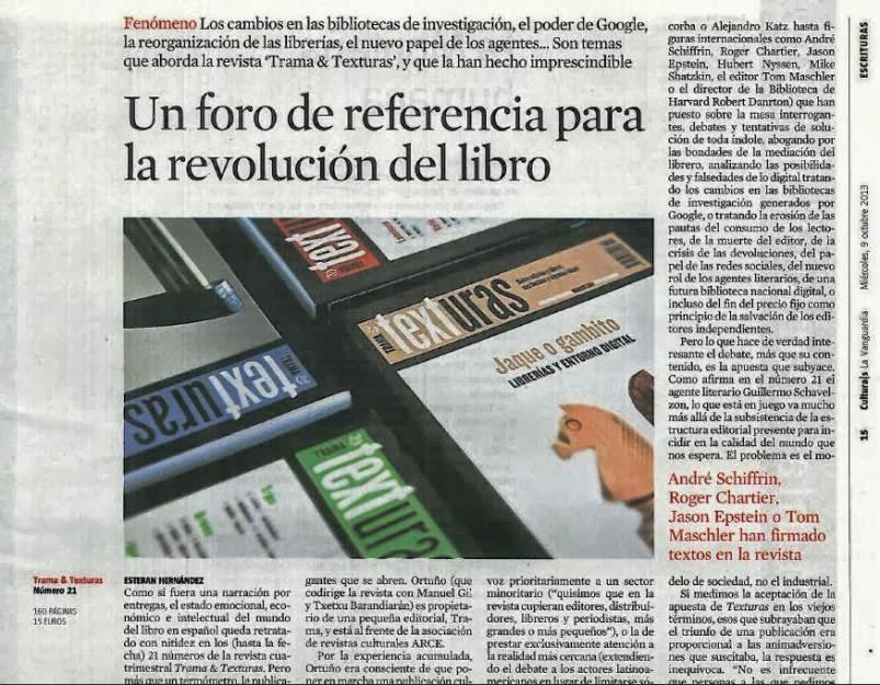 Texturas en La Vanguardia