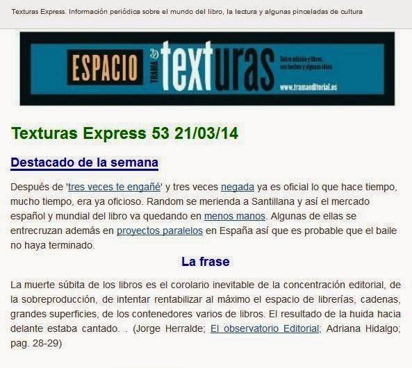 Texturas Express entra con el número 53 en su segundo año de andadura
