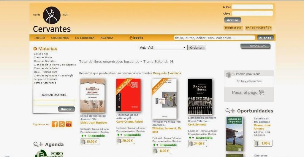 Todo el fondo de Trama en la Librería Cervantes de Oviedo