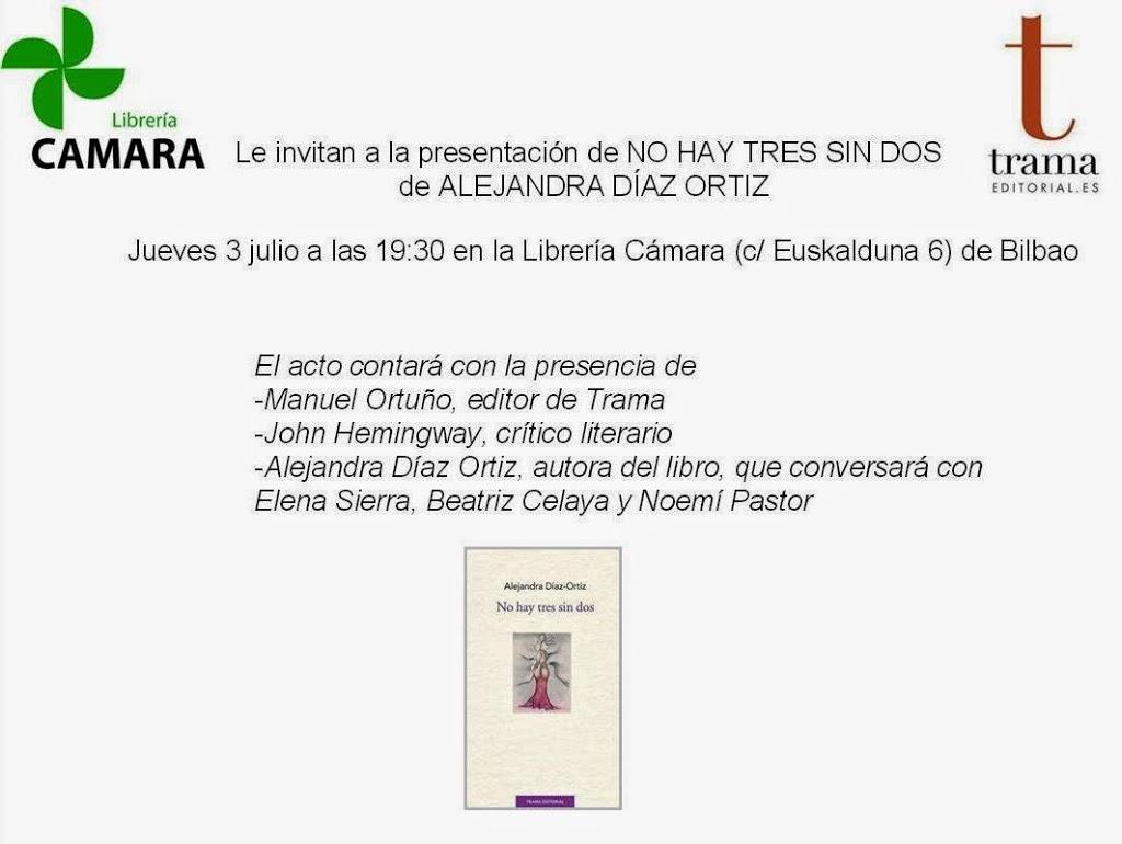 Bautismo de No hay tres sin dos en la Librería Cámara de Bilbao
