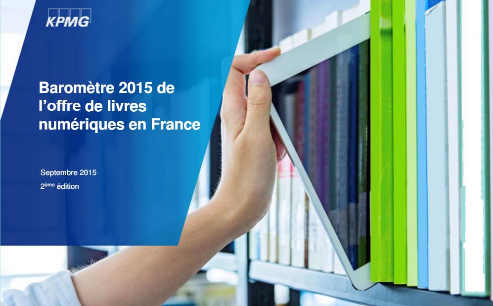 KPMG. Barómetro del libro digital en Francia 2015