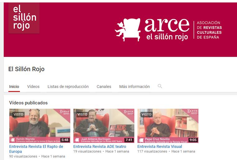 ARCE abre su Canal de Youtube con el proyecto de entrevistas EL SILLÓN ROJO