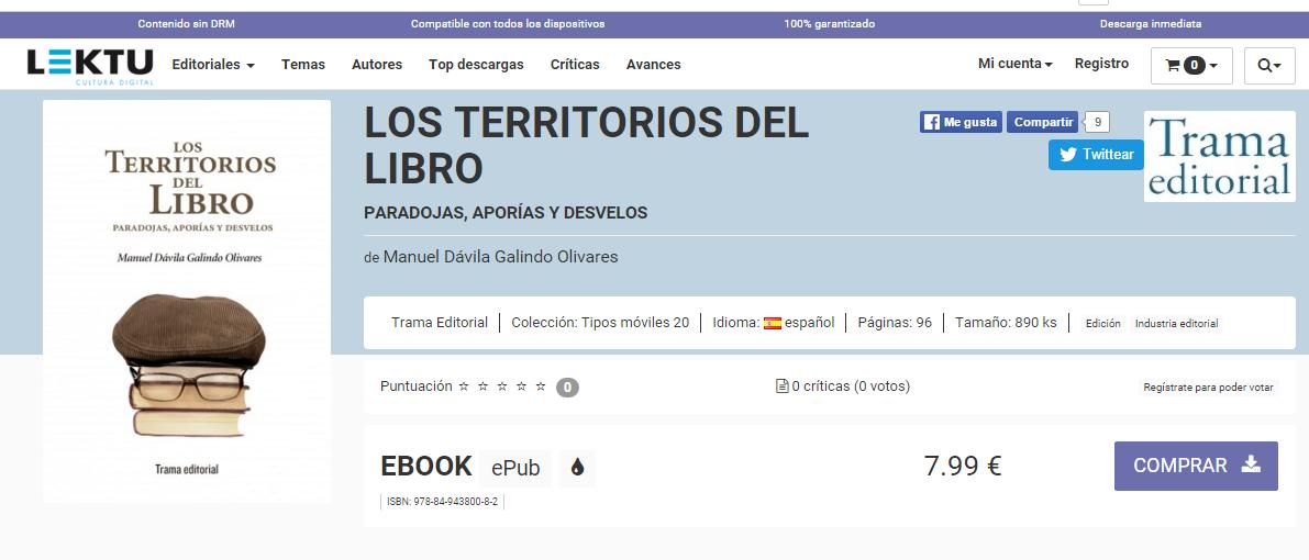 Los territorios del libro de Manuel Dávila también en digital