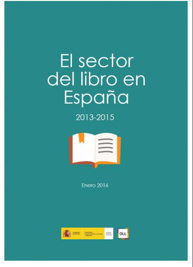 El sector del libro en España 2013-2015. Actualización Enero 2016