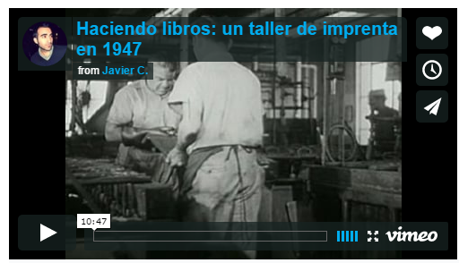Haciendo libros: un taller de imprenta en 1947