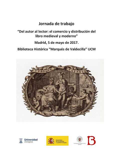 Jornada: Del autor al lector: el comercio y distribución del libro medieval y moderno