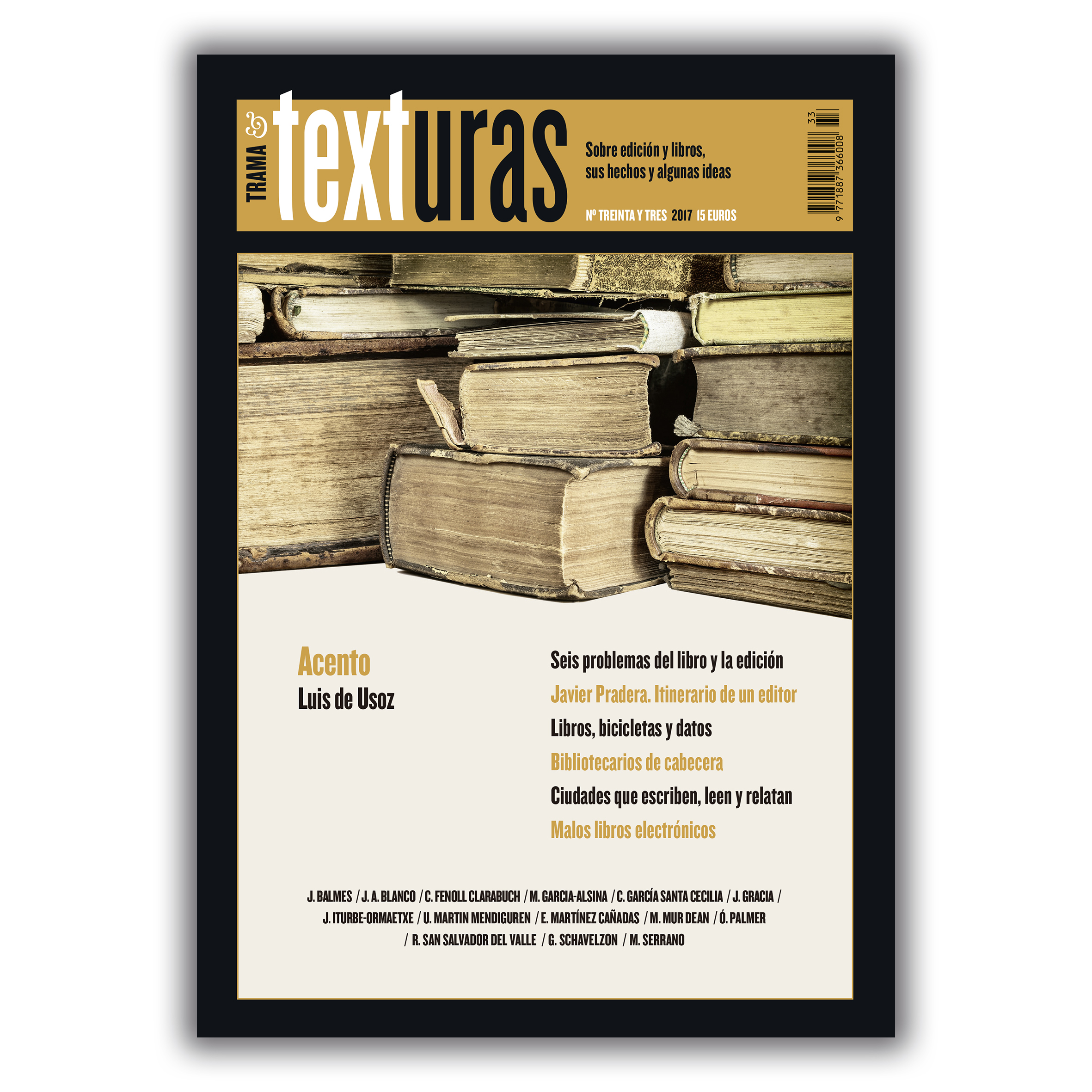 Texturas 33 – Trama editorial