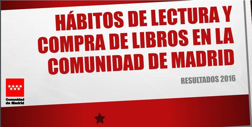 Hábitos de lectura y compra de libros en la Comunidad de Madrid. Resultados 2016