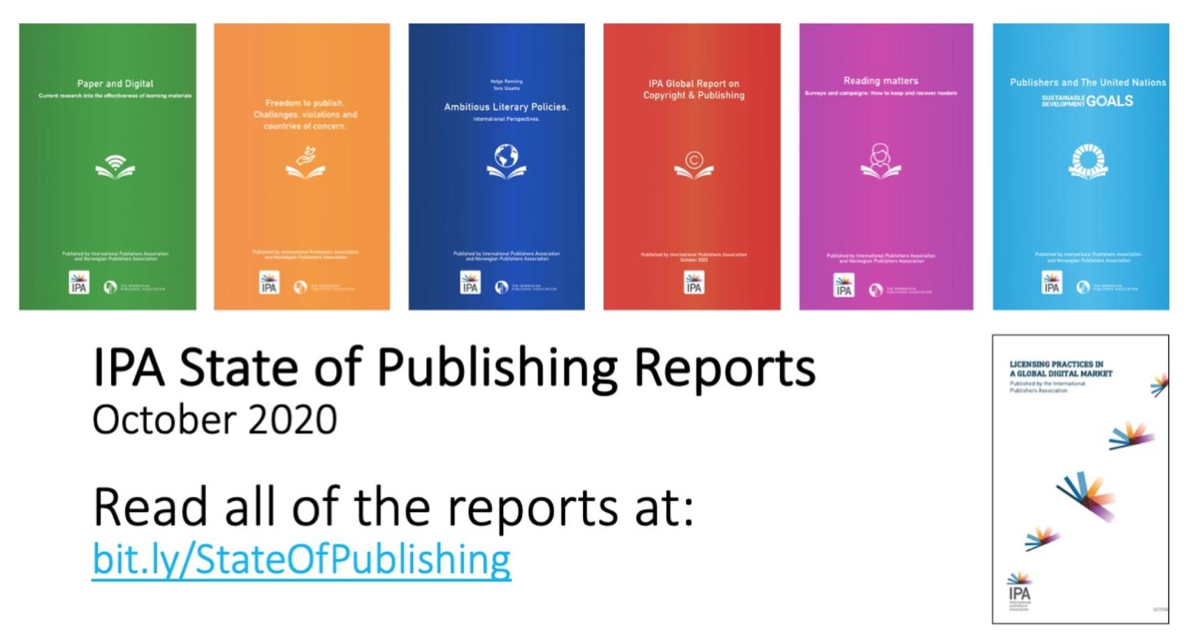 Siete informes clave de la Asociación Internacional de Editores